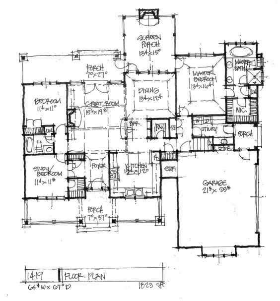 House Plans Craftsman And Floors On Pinterest