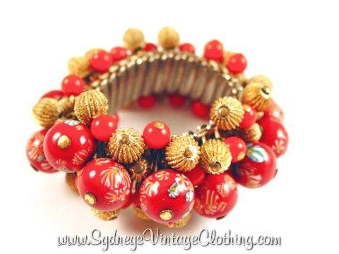 Miriam Haskell STYLE Beads Vintage Bracelet SydneysVintageClothing.com