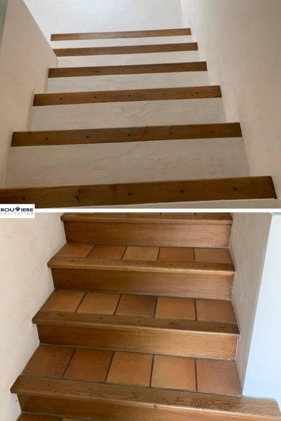 Epingle Par Carayon Sur Deco En 2020 Escalier Beton Cire Escalier Carrele Renover Escalier