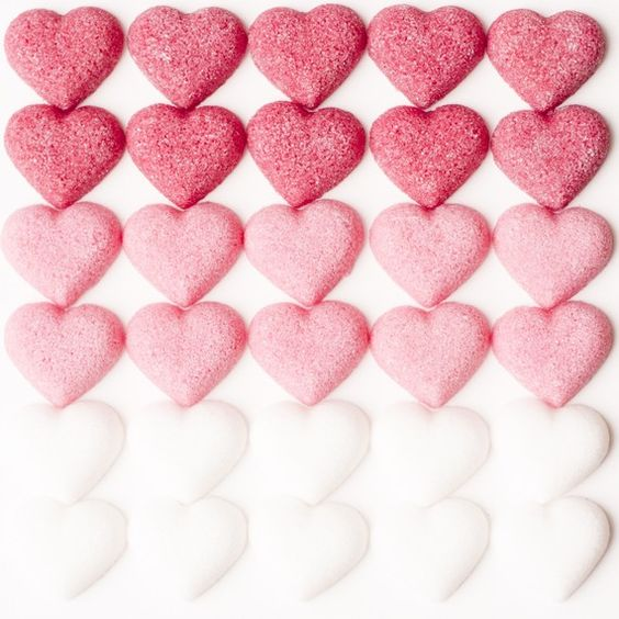 • ♥ • hearts pink & white