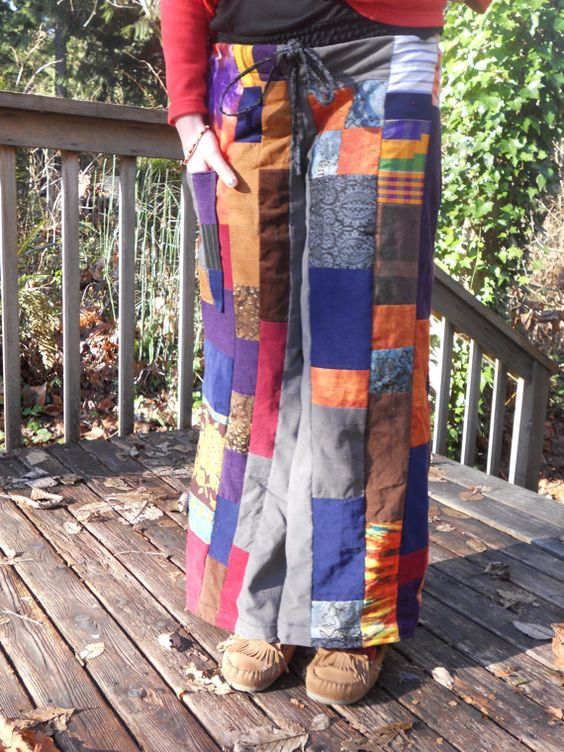 Funky Patchwork Corduroy Pants. $100.00, via Etsy. | cord ...