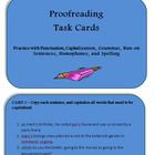 This PDF file is a set of 21 task cards about types of errors that students commonly check for when they are proofreading their work.  The topics i...