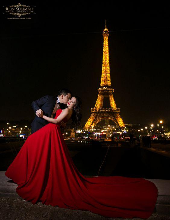 Engagement photo session in Paris, France. Wedding photojournalism by Ron Soliman www.ronsoliman.com #ronsolimanphotojournalism #destinationweddingphotographer #topknotweddings #engaged #weddinginspiration #huffpostweddings #parisweddingphotographer #parisengagementphotos #paris #eiffeltower
