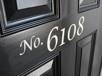 house number idea