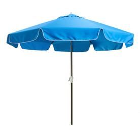 All Things Cedar 10 Ft Patio Umbrella Blue Ub33 B Patio Lowes Home Improvements Blue