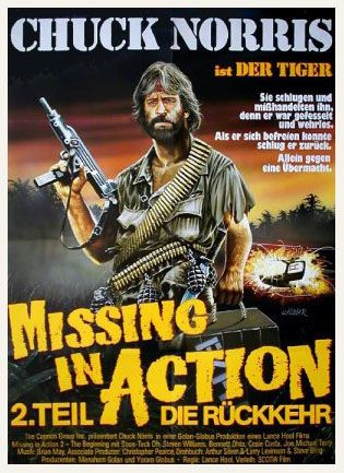 Missing in Action 2 German Movie Poster Missing in Action - missing in action poster