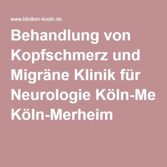 Behandlung von Kopfschmerz und Migräne Klinik für Neurologie Köln-Merheim