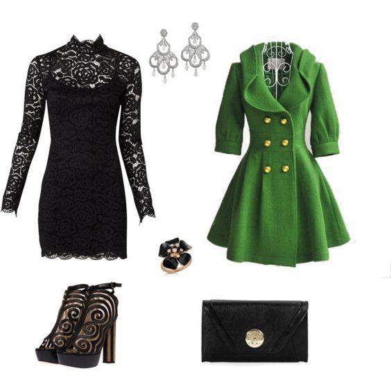 Love the green coat!!