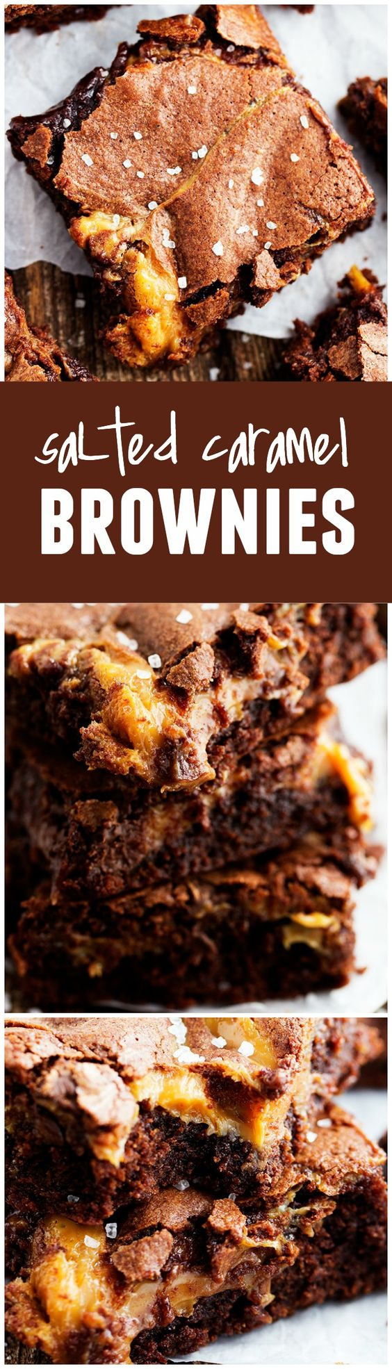 Salted caramel brownies, Caramel brownies and Salted caramels on ...