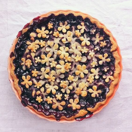 Bust out the cookie cutters to make this Summer Blackberry Pie.