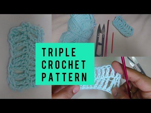 How To Triple Crochet Stitch Crochet Beginners Lesson 3 Youtube Triple Crochet Stitch How To Triple Crochet Crochet For Beginners