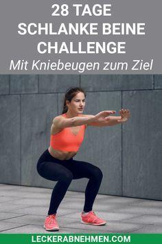 28 Tage Kniebeugen Challenge – Straffe Beine durch Squats