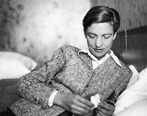Annemarie Schwarzenbach (1908-1942) by German photographer Marianne Breslauer (1909 - 2001)