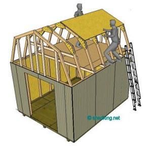 12x12 gambrel roof shed plans barn shed plans small barn for Small shed roof house design
