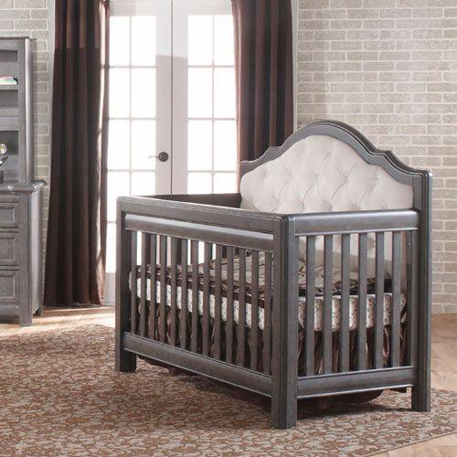 Cristallo Forever Crib Granite With Fabric Panel
