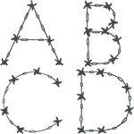 Barbed Wire Alphabet Embroidery Design