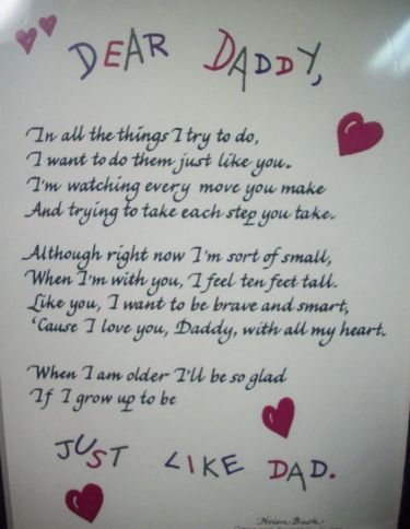 Short poems from daughter father pictures to pin on for Short poems for daughters from mothers