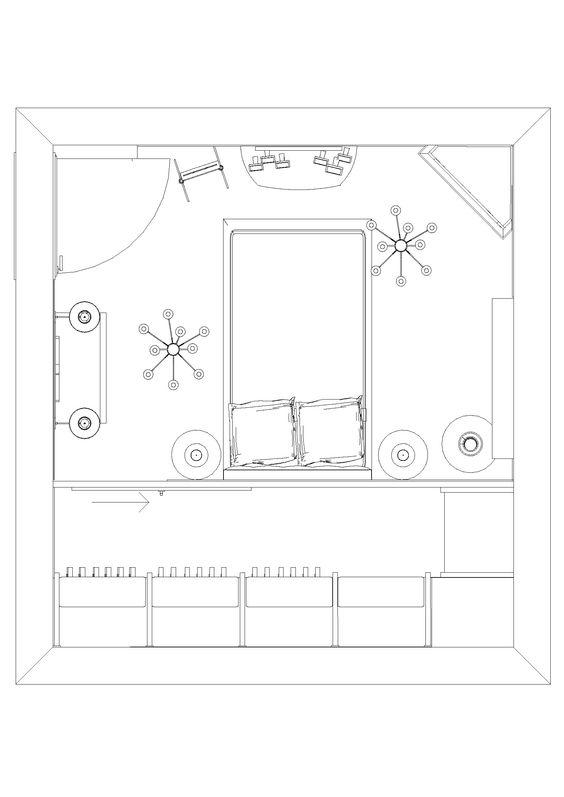 Pianta progetto camera con cabina armadio abitabile - Camere da letto con cabina armadio ...