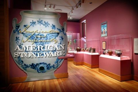 Inspiration and Ingenuity: American Stoneware  Explore stoneware from the 19th century through to present day and discover how the tradition of decorating utilitarian stoneware evolved into an art form all its own.   Through October 2014: