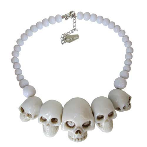 Kreepsville 666 - White Skull - Necklace