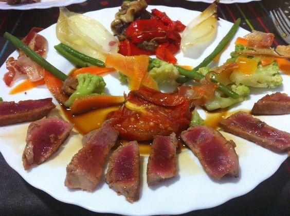 Ventresca de tonyina guarnida
