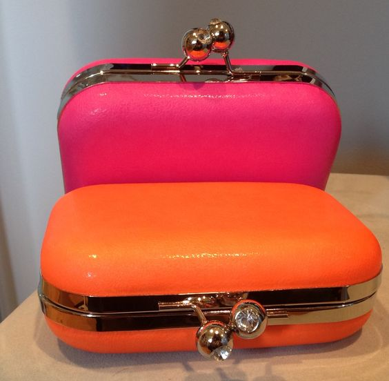 Citrus minaudière clutch. Orange Tango & Pink Lemonade