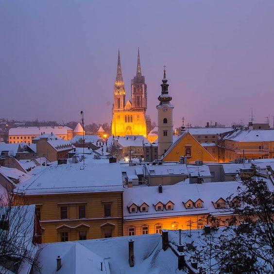 """Davor Rostuhar on Instagram: """"Winter is coming to Zagreb ❤  #Zagreb #VisitZagreb #zagrebcathedral #davorrostuhar"""""""