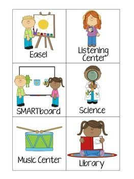 Use these center signs to label your pre-k/kindergarten centers! I used the smaller signs for my play choice chart and the bigger signs are used to label the actual centers!Includes:Dramatic PlayScienceTable ToysBlocksSmartboardComputersLibraryArt/WritingListeningMusicSand and WaterEaselClipart from mycutegraphics.comeNJoy! :)