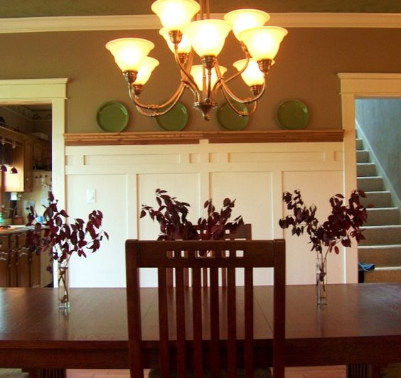 Craftsman style wainscoting and board and batten on pinterest for Arts and crafts wainscoting