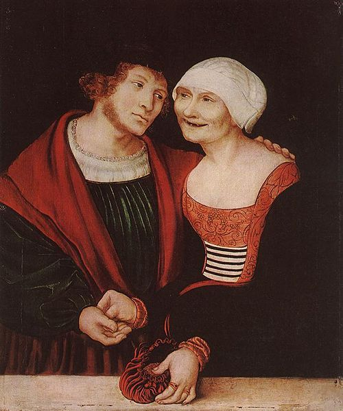 Lucas Cranach d. Ä. - Amorous Old Woman and Young Man:
