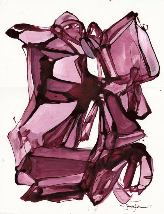 It has such beautiful flow!!!!  ~~Landslide in Mauve  85 x 11 Fine Art Print by SarahIntemann, $20.00