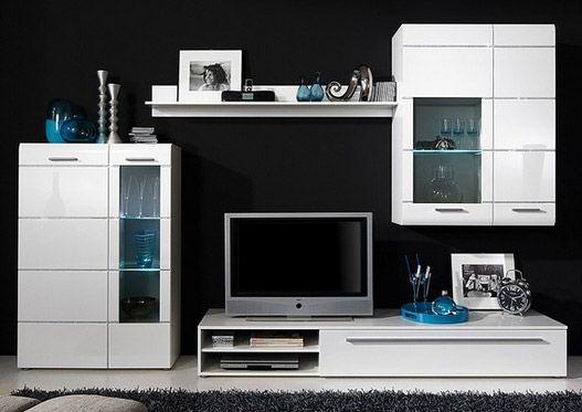 Spectacular TV Schrank Rack u Board wei schwarz rot modern u hochglanz Magazine Design Pinterest