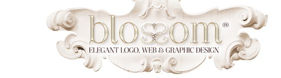 Blossom Graphic Design Boutique Web Design, Boutique Graphic Design, Ladylike Logos, Boutique Logo Design, Feminine and Glamorous Logo, Graphic and Web Design For Small, Elegant Business