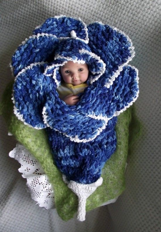 Crocheted Flower Baby Cocoons Are Adorable Baby Cocoon