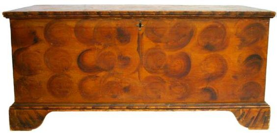 New York Decorated Chest - Sheridan Loyd Antiques