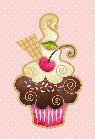 """Scrumptious Cupcake"" by sandygrafik | Redbubble:"