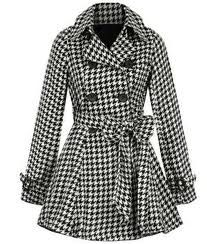 Houndstooth in the fall. Classic.