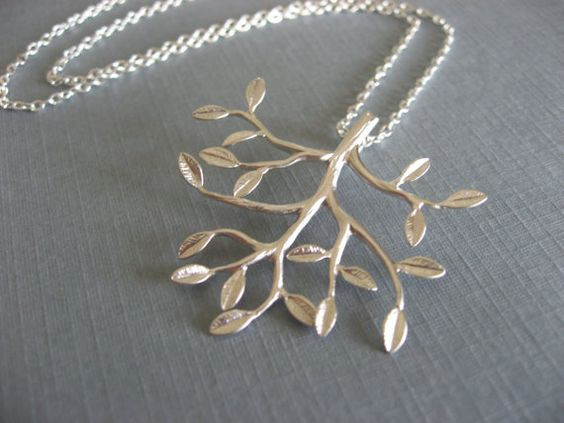 Leafy Tree Necklace by donnabjewelry on Etsy, $18.75