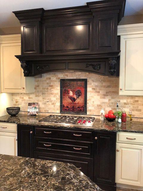 Tile Mural Rooster Kitchen Decor