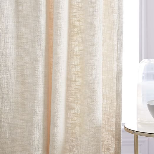 Textured Weave Curtain Stone White Curtains Curtains With