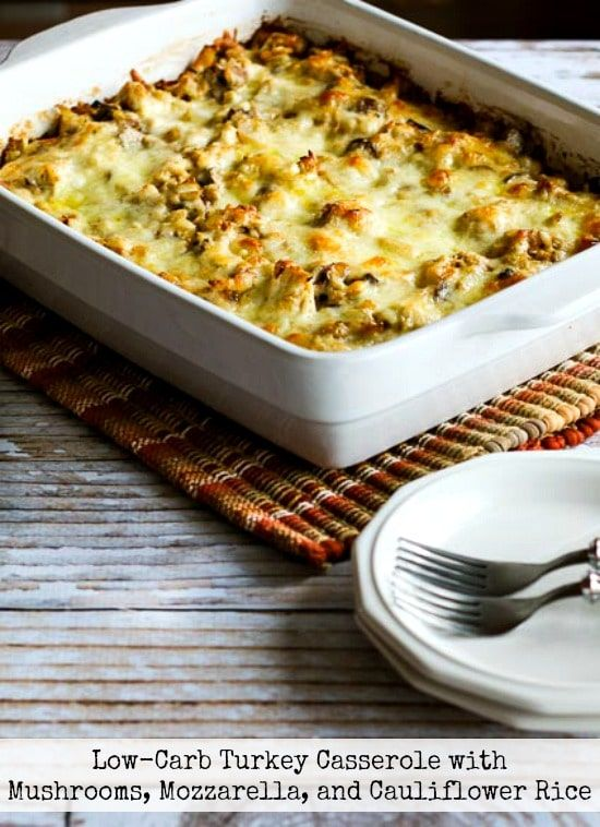 Low-Carb Turkey Casserole - 24 Tasty and Keto-friendly Recipes For Thanksgiving - OurMindfulLife.com