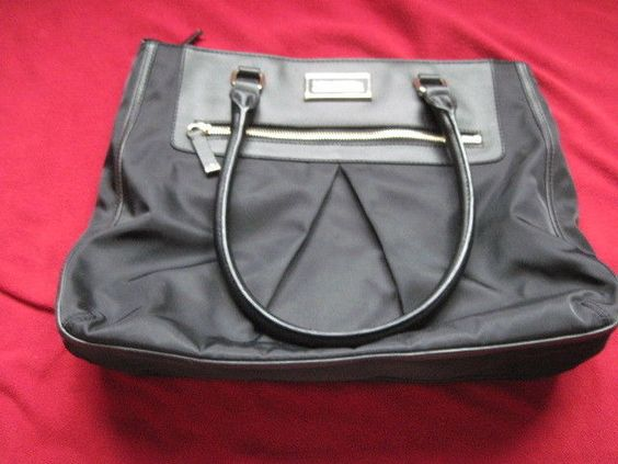 CALVIN KLEIN BLACK TOTE SHOULDER BAG PURSE HANDBAG  #CalvinKlein #TotesShoppers