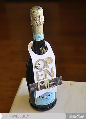Open Me Wine Bottle Tag {Studio Calico December Kit}