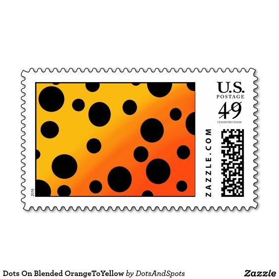 Dots On Blended OrangeToYellow Stamp