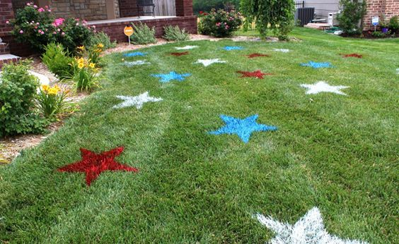 All you need is some spray paint for this super easy party decor.