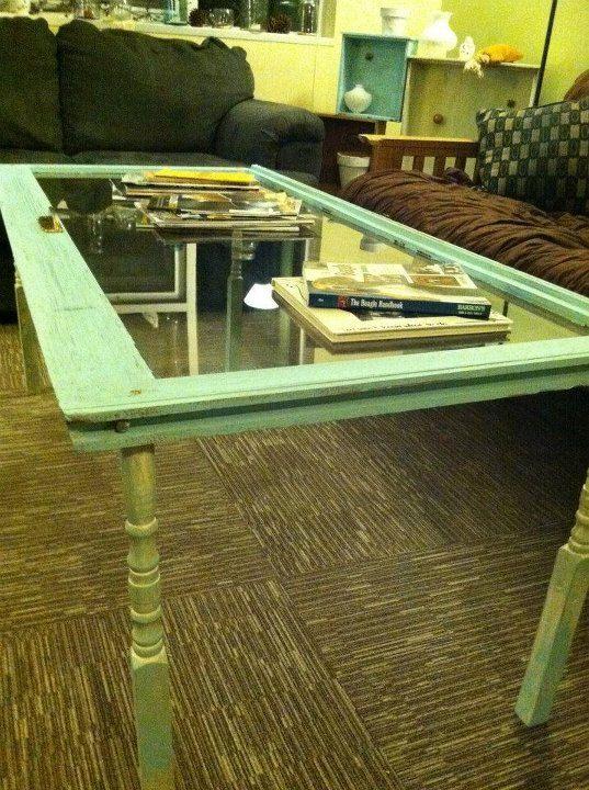 Repurposed Window Coffee Table by ANewLightRoars on Etsy, $80.00
