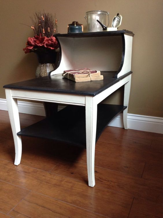 refinished vintage end table on etsy 7500 astonishing pinterest refurbished furniture photo