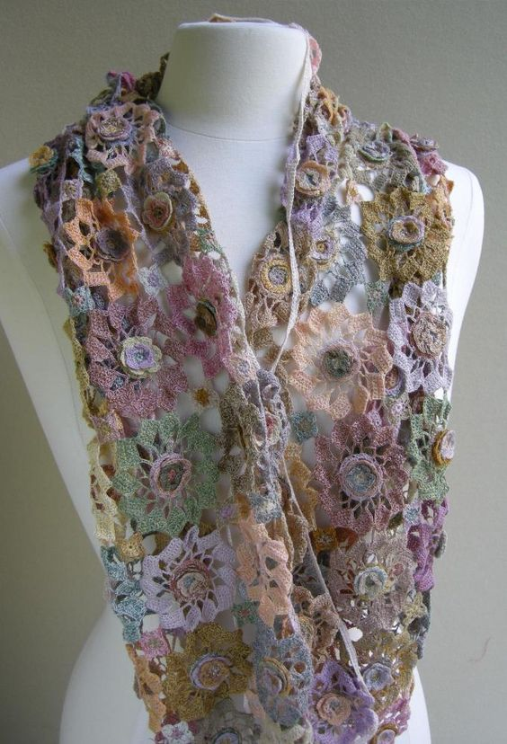 Soleil Rose scarf  by Sophie Digard Scarves: