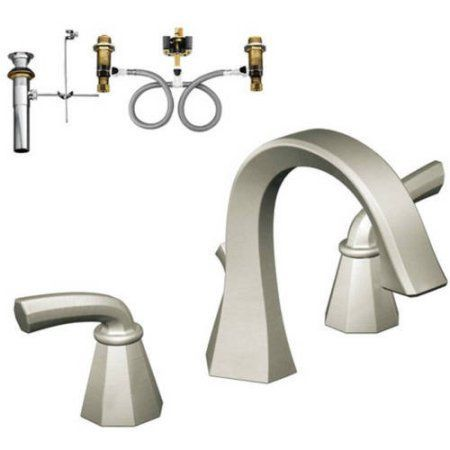 Moen Klfe-d-ts448orb Felicity Two-Handle High-Arc Lavatory Faucet, Available in Various Colors, Silver