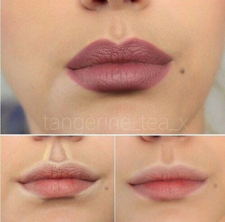 how to make big lips look smaller